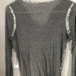 Zadig & Voltaire Tops - Willy foil long sleeve shirt